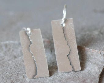 Torn Paper Dangly Earrings, Ripped Paper Earrings, Paper Earrings, Delicate Earrings, Organic Earrings, Simple Earrings, Modern Earrings