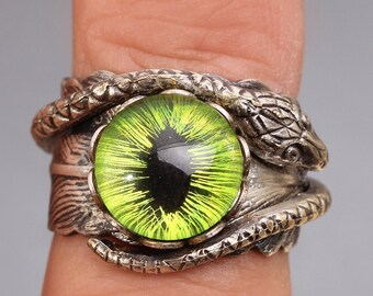 Evil Eye Ring Snake Ring Eye Ring Feather Ring