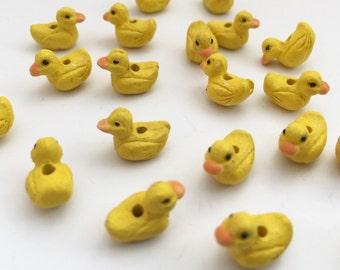 5 gelbe Baby Entchen Perlen