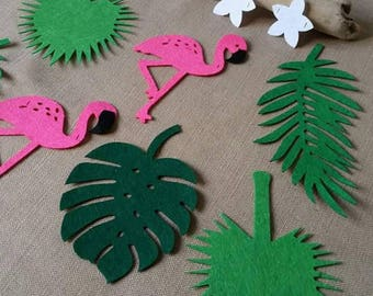Palm tree and Flamingo party decoration or party Garland