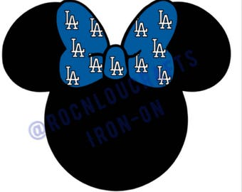 Iron-on, Minnie Mouse inspired Dodgers Iron-on,DIY shirt, Giants Minnie Mouse, San Francisco, Los Angeles,