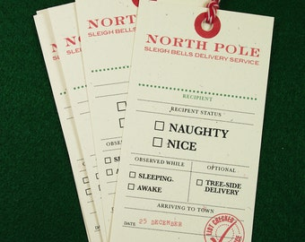 Naughty or Nice Christmas Tags - 5 Pack Giant Gift Tags