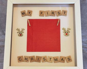 My first christmas scrabble frame