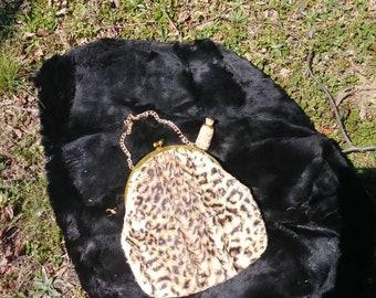 Garay Fur Purse with Small Perfume Decanter