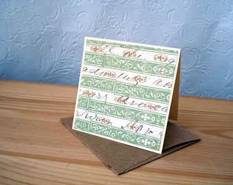 Scripty Greeting Cards, Ivory Vintage-like Mini Note Cards, Gift Enclosures, 8 Gift Notes, Petites Cartes de Vœux