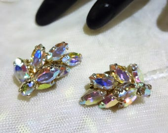 Vintage Sherman AB Rhinestone Tiered Earrings