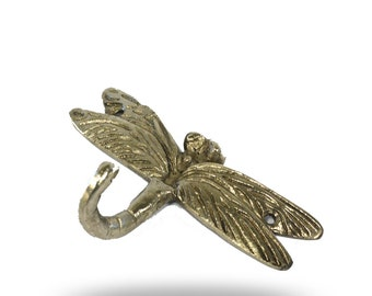 Dragonfly Home Décor Accent Doubles as a Functional Wall Hook, Coat Hanger, Towel Hook, Robe Hanger and More, decortive Wall Hanger