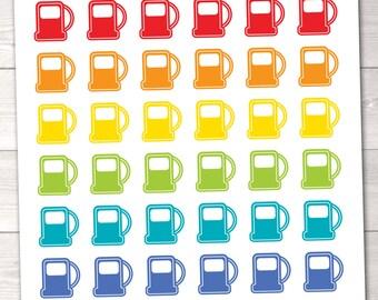 Printable Gas Pump Planner Stickers Instant Download Printable Sticker PDF