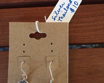 Thai silver circle earrings