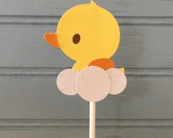 Rubber Ducky Cupcake Topper (set of 12)