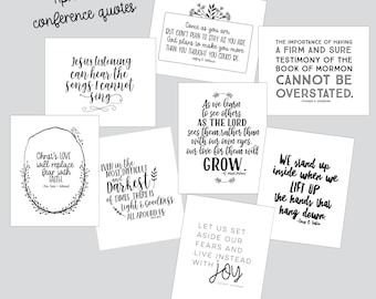 LDS Multiple Visiting Teaching Conference 2017 Quote Digital Print Pack / May Visiting Teaching handouts and printables