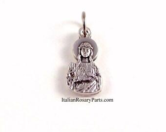 Saint Philomena Bracelet Medal Charm | Italian Rosary Parts