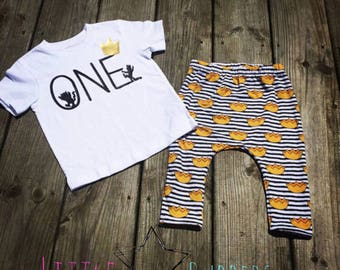 Wild One First Birthday Shirt- Where the Wild Things Are Birthday shirt- Boys First Birthday