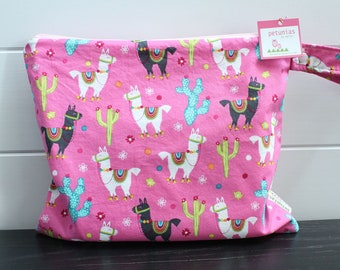 Wet Bag wetbag Diaper Bag ICKY Bag wet proof pink alpaca gym bag swim cloth diaper accessories zipper gift newborn baby kids beach bag