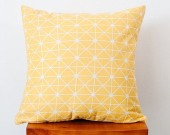 Christmas gift,yellow and white geometry sofa pillow cover,custom handmade fabric throw pillow case for livingroom,home decor cushion cover