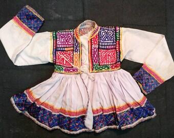 One Rare Vintage Rabari kid's Jacket: A beautiful Vintage Rabari kid keriya jacket, Boho Jacket, Tribal Rabari jacket top, Rabari hippie Top