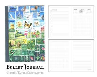 Happy Valley - A5 Bullet Journal, Flowers & Butterflies Diary Planner