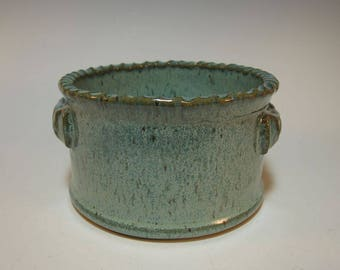 Casserole Dish Baking Dish Ovenware Baker with Fluted Rim -Small Size Speckled Aqua