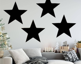 Stars Wall Decal Removable Vinyl Sticker, Set of 4, Star Wall Decor, Star Wall Decals, Star Wall Art, Star Wall Stickers