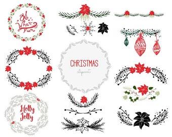 Christmas Clip Art/ Holiday Clip art/ Christmas Vector Art/ Christmas Vector Illustrations/ Vector Art