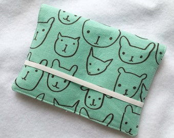 Crayon Wallet // Hello Animal Faces in Seaglass by Alexia Marcella Abegg