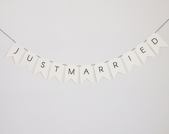 Just Married Flag Banner