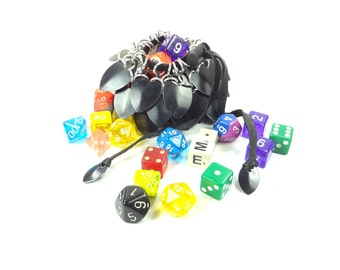 Dungeons & Dragons Black Dice Bag Scalemaille And Chainmaille Aluminum - SDB-S-BK