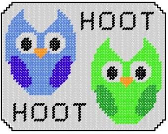 Owl Mousepad Plastic Canvas Pattern