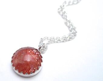 Oregon Sunstone Necklace in Silver and Sunstone