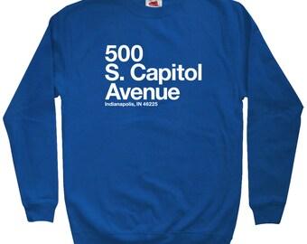 Indianapolis Football Stadium Sweatshirt - Men S M L XL 2x 3x - Crewneck, Indy Shirt, Indiana, Fan, Sports, Gift - 4 Colors