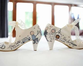 Unique wedding shoes | Etsy