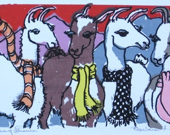 Llamas of Leisure  by Barbara Fernekes Hughes