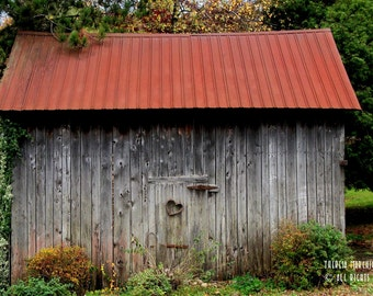 """Signed Original Photograph """"A Barn With Heart"""" ∎ Print With Mat ∎ Or Print Only"""