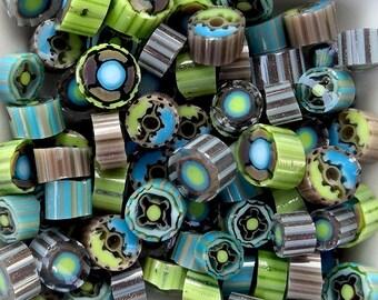COE 104 Chocolate Mint by Lori and Kim Murrini Millefiore Murrine