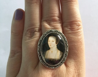 Anne Boleyn Inspired Cameo Ring
