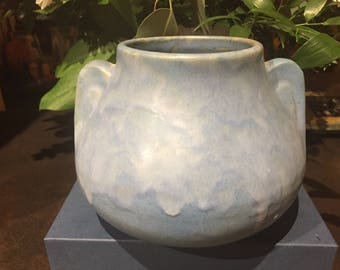 Brush McCoy Fawn Vase Shape 716, Blue Art Vellum Glaze, Prairie Mission Arts and Crafts Era, Vintage Art Pottery, FREE SHIPPING