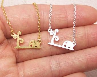 Elephant And Tree Necklace,Elephant Necklace, Tree Necklace, Animal Necklace, Elephant Jewelry, Tree Jewelry, Minimalist Necklace NB682
