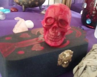 Handmade mini coffin box