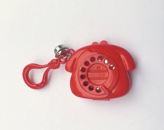 1980's Plastic Bell Charm Telephone Mirror Locket