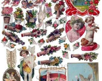 Valentine Stuff Number 7 Digital Download Collage Sheet