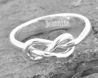 Infinity Ring, Engraving Ring, Bridesmaid Gift, Best Friend, Promise, Personalized, Friendship, Sisters, Mother Daughter, Sterling Silver