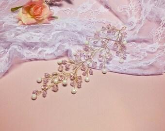 Hair Vine, Bridal Hair Vine, Gold Hair Vine, wedding hair vine, Pearl Hair Vine, Bridal Jewelry, Hair Vine Pearl, Hair Vine
