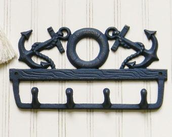 Anchor Wall Hook, Coastal Decor, Wall Hooks, Coat Hooks, Beach House Decor, Seashore Decor, Nautical Decor, Cast Iron Wall Hooks