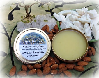 Sweet Almond Unscented  Body Balm 4 oz.