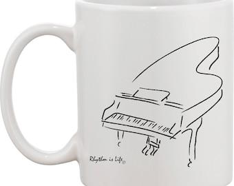 Baby Grand Piano Coffee Mug