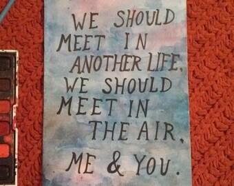 Sylvia Plath Watercolor Quote