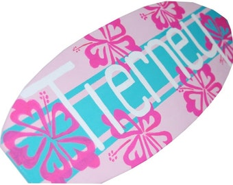 Teen Girl Room Decor, Personalized Surfboard Wall Art, Gifts for Teen Girls - 18 inch