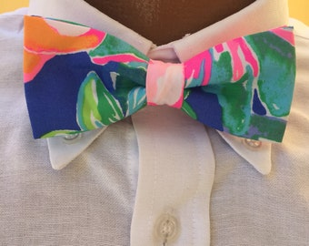 His & Her Lilly Pulitzer Jungle Utopia Bow Tie and Bow Bracelet Set