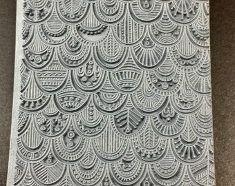 ROCOCO  Fineline Rubber Texture Tile Mat Stamp for Clay inks Paint Soap   TTL814