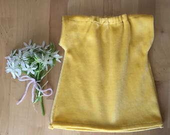 DOLL CLOTHES  || cotton velour gown, waldorf doll dress, mustard